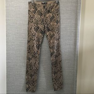 BDG Cigarette High Rise Black Printed Pants 28x34